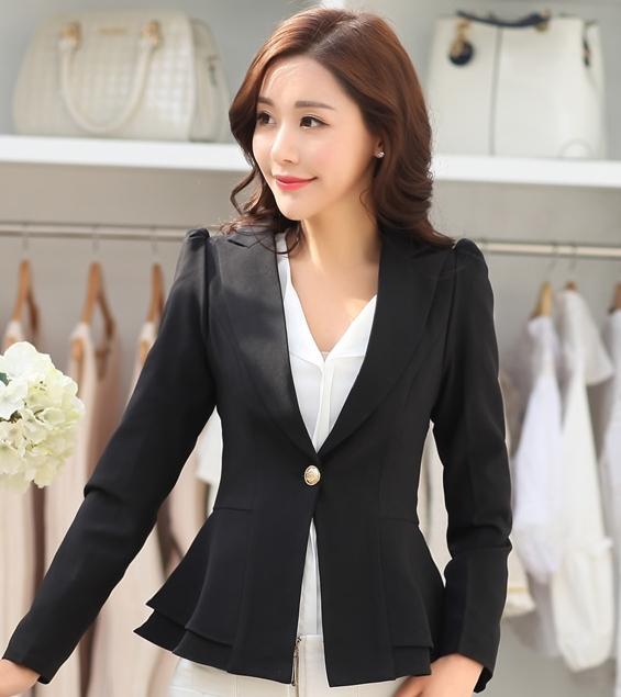 เสื้อสูททำงานผู้หญิงสีดำ