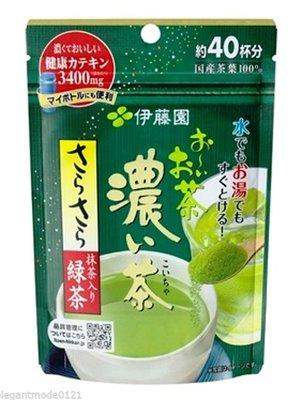 Itoen Green Tea Matcha ชาเขียวชนิดผงจากญี่ปุ่น ซองสีเขียวเข้ม