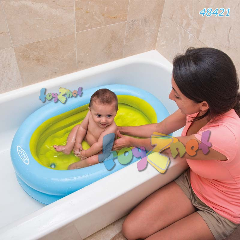 intex baby bath tub set w air pump toyznet intex thailand. Black Bedroom Furniture Sets. Home Design Ideas