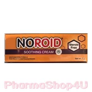 NOROID SOOTHING CREAM 5 กรัม โนรอยด์ซูทติ้ง ครีมสำหรับผิวแห้งและผิวแพ้ง่าย