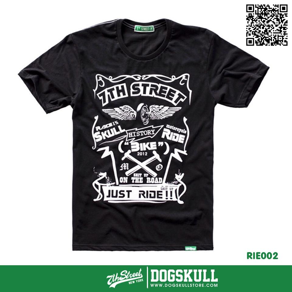 เสื้อยืด 7TH STREET - รุ่น Just Ride | Black