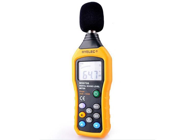 เครื่องวัดความดังเสียง 30-130 dBA (HYELEC-MS6708)
