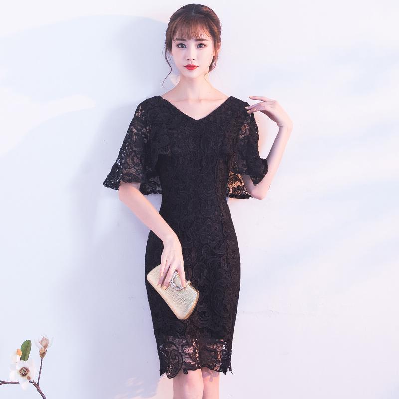 ชุดราตรีชุดออกงานสีดำน่ารัก