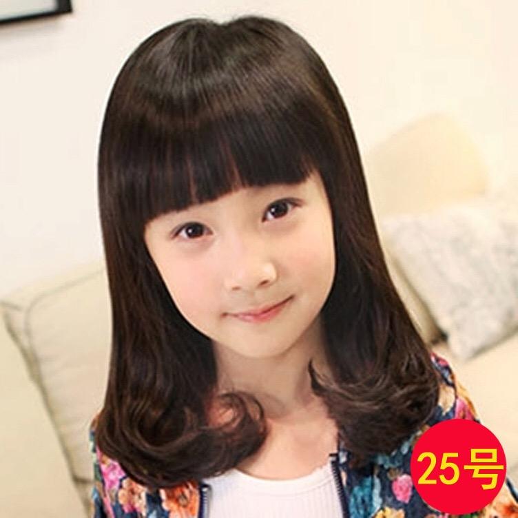 วิคผมเด็ก-ผมหยิกยาวปะบ่า สไตล์เกาหลี (สีดำ)