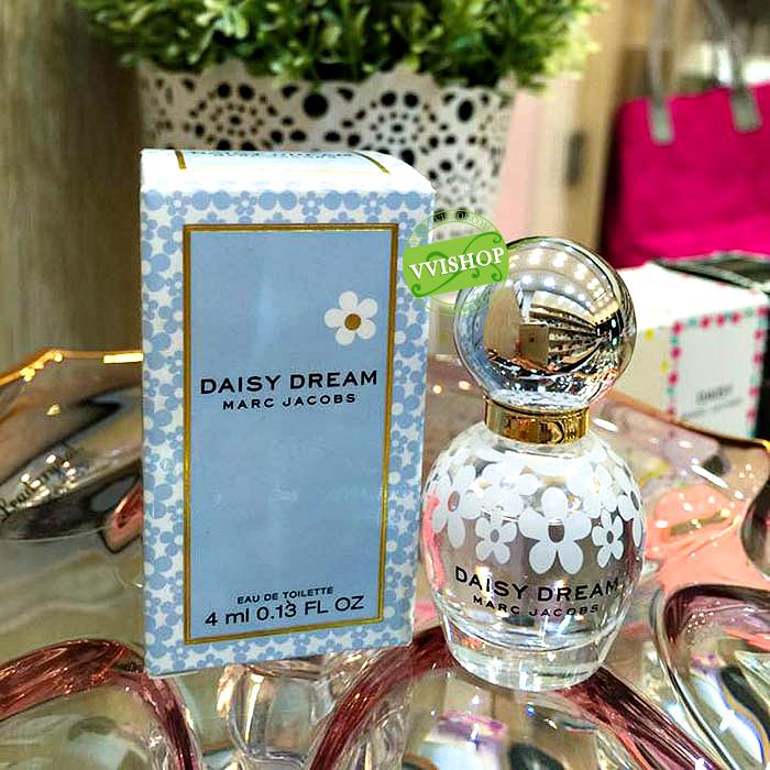 Marc Jacob Daisy Dream EDT 4 ml. กลิ่นเย็นสดชื่นของดอกไม้และผลไม้ ขวดน่ารักมากจ้า