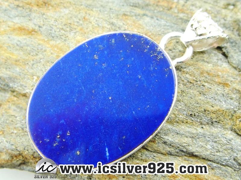 ▽ลาพิส ลาซูลี่ (Lapis Lazuli) จี้เงินแท้ 925 (6.9g)