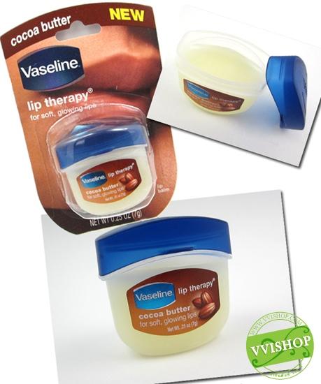 Vaseline Lip Therapy 7 g # Cocoa Butter สีใสๆ กลิ่นขนม วาสลีนสำหรับบำรุงริมฝีปากโดยเฉพาะ ชุ่มชื่น อ่อนโยน หอมอ่อนๆ ขนาดกำลังน่ารัก