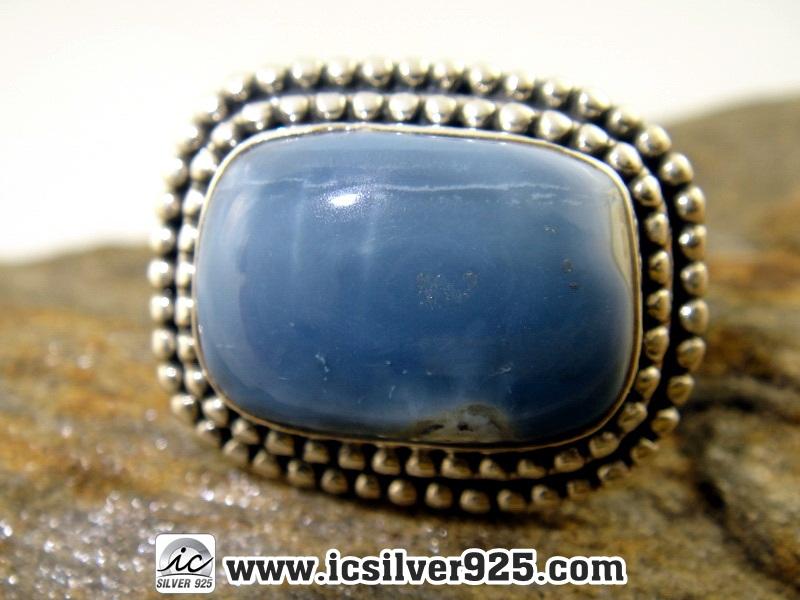 ▽โอปอ Owyhee Opal แหวนเงินแท้ 925 (แหวนเบอร์ : 58 , 9.1g)
