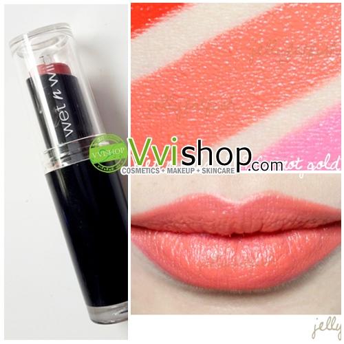 Wet n Wild Mega Last Lip Color 3.3 g # 969 24 Carrot Gold ลิป สีส้มแครอท เปรี้ยว แซบเบาๆ