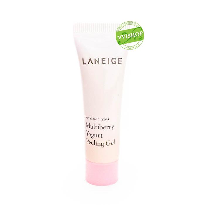 Laneige Multiberry Yogurt Peeling Gel 10 ml. เจลสครับผิวสูตรอ่อนโยนช่วยขจัดเซลล์ผิวเก่า เผยผิวใหม่ให้สว่างกระจ่างใส