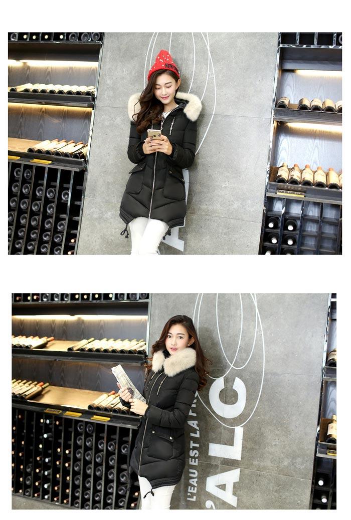 เสื้อกันหนาวผู้หญิงแฟชั่นเกาหลี สีเทา แจ็คเก็ตมีเฟอร์รอบฮู้ด ยาวคลุมสะโพก หนาวนี้ เอาอยู่
