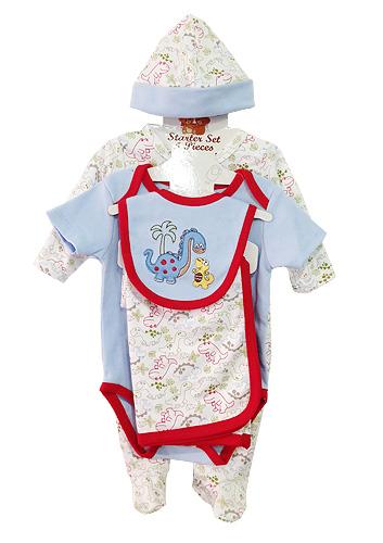**Nannette** WT524 Size 0/3, 3/6, 6/9m เสื้อผ้าเด็กขายส่ง ชุดเซ็ต 5 ชิ้น ในแพคมี ชุดหมีแขนยาว, บอดี้สูทแขนสั้น, ผ้าห่ม, ผ้ากันเปื้อน และ หมวก ครบชุดค่ะ ยกแพค 6 เซ็ต ครบไซส์ ต่อแบบ