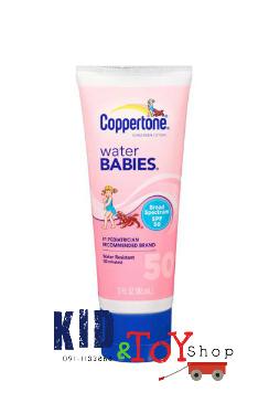 ครีมกันแดดสำหรับเด็ก Coppertone Water Babies Sunscreen Lotion, SPF 50 ขนาดพกพา 3 oz++พร้อมส่ง++EXP 2018