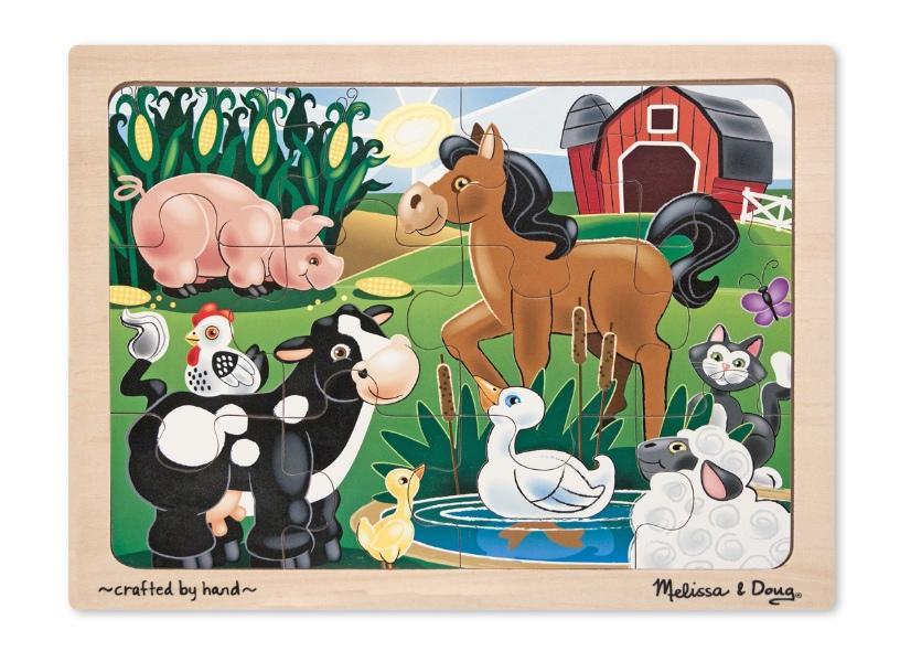 จิ๊กซอชิ้นใหญ่ Wooden Jigsaw Puzzle - 12 piece Farm