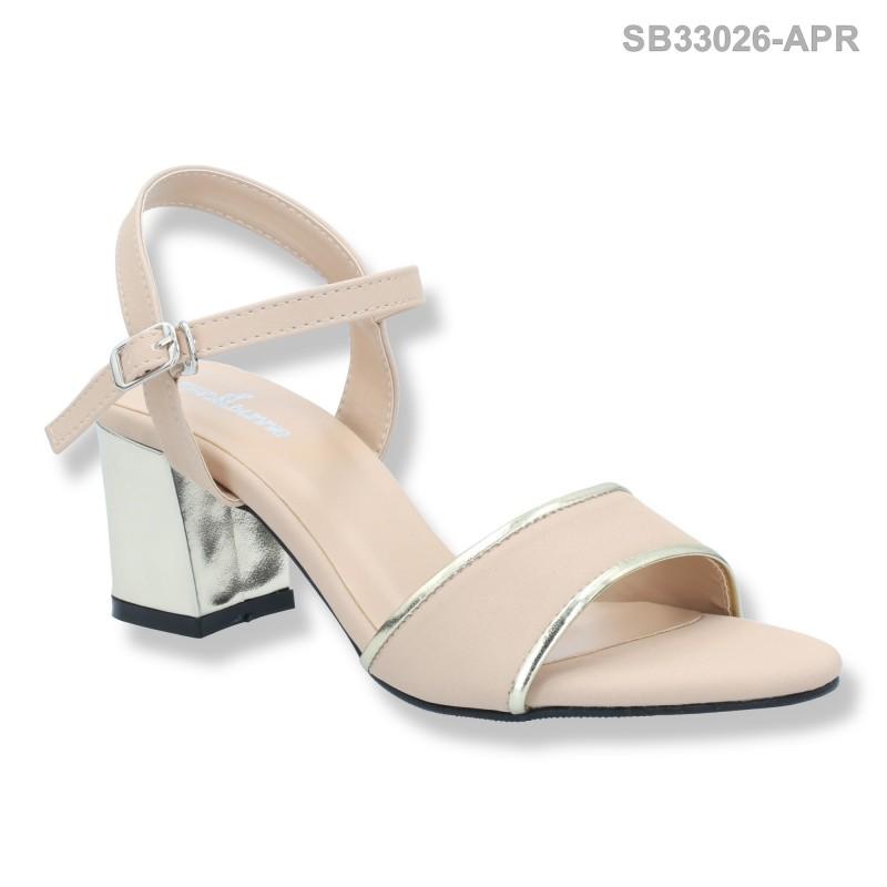 ลดล้างสต๊อก รองเท้าส้นสูงแฟชั่น SB33026-APR [สีแอปริคอท]