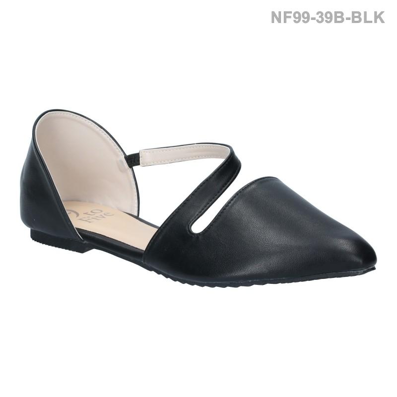 ลดล้างสต๊อก รองเท้าส้นแบน NF99-39B-BLK [สีดำ]