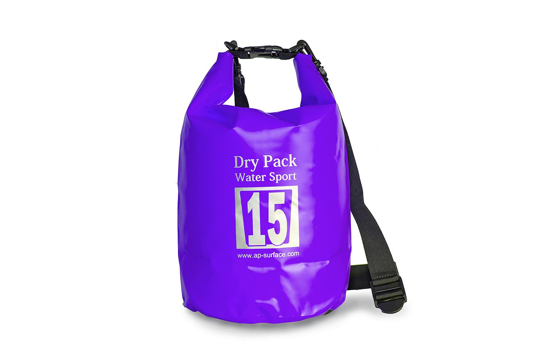 กระเป๋ากันน้ำ Dry pack 15L-สีม่วง