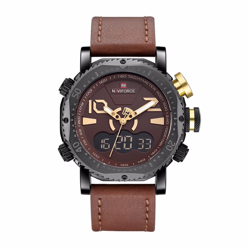 นาฬิกา Naviforce รุ่น NF9094M สีทอง/สายน้ำตาล ของแท้ รับประกันศูนย์ 1 ปี ส่งพร้อมกล่อง และใบรับประกันศูนย์ ราคาถูกที่สุด