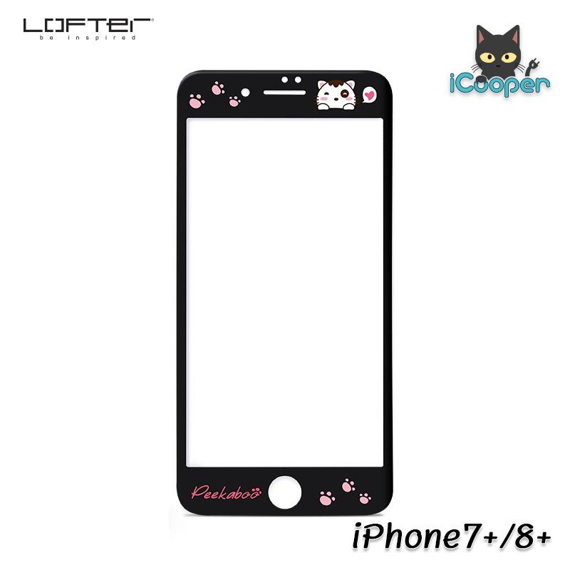 LOFTER Peekaboo 3D Full Cover - Black (iPhone7+/8+)