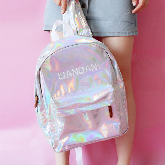กระเป๋าเป้ผ้าโฮโลแกรม (มีให้เลือก 3 สี)