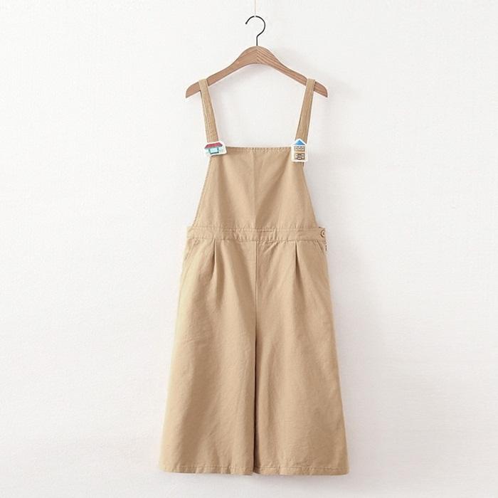 เอี๊ยมกางเกงแต่งเข็มกลัด (มีให้เลือก 5 สี 2 ไซส์)