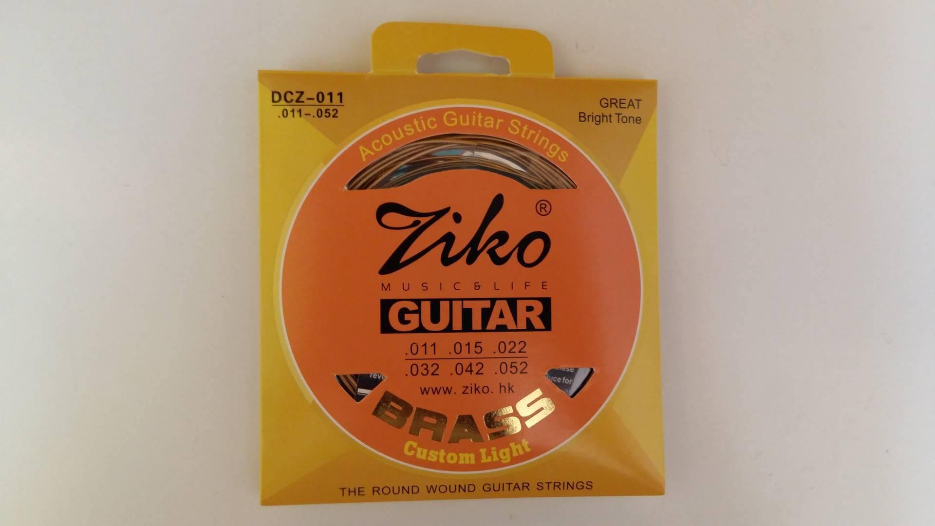 สายกีตาร์โปร่ง ZIKO No.11 (Brass)