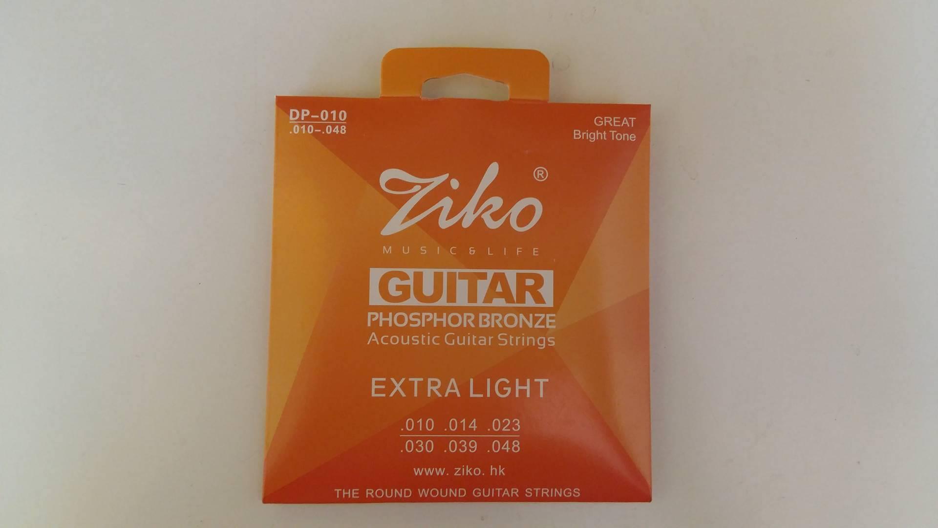 สายกีตาร์โปร่ง ZIKO No.10