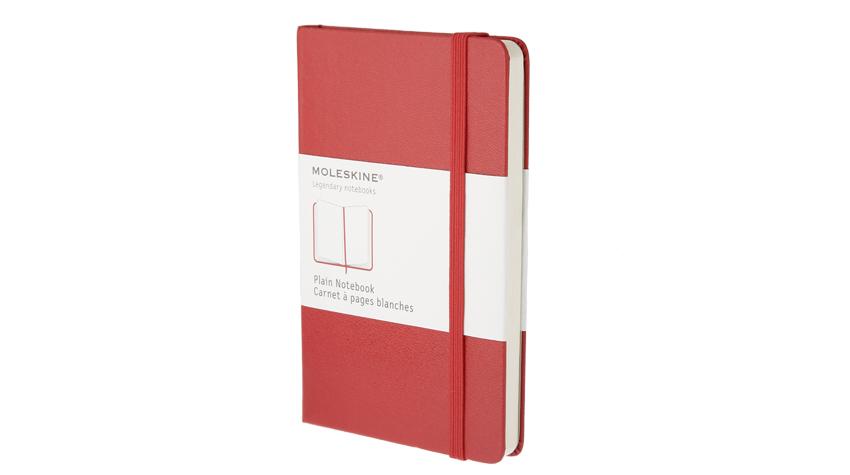 สมุด Moleskine Hard Cover ไม่มีเส้นบรรทัด ปกแข็ง สีแดง ขนาด Pocket