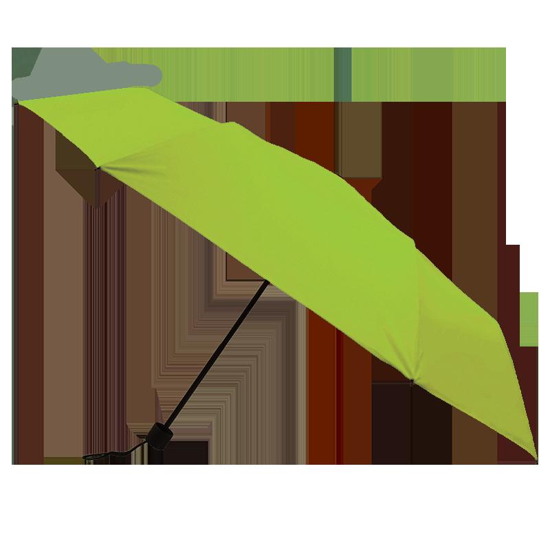 Silver Coating Folding ร่มพับ3ตอนเคลือบเงินป้องกันรังสียูวี - สีเขียว