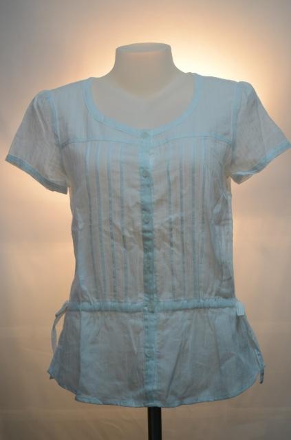B+BASIC เสื้อสีขาวอ๊อฟไว้ท์ มีเชือกรูดผูกเอว