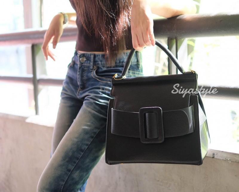 กระเป๋าสะพายข้าง กระเป๋าถือ Big BOYY [สีดำ]