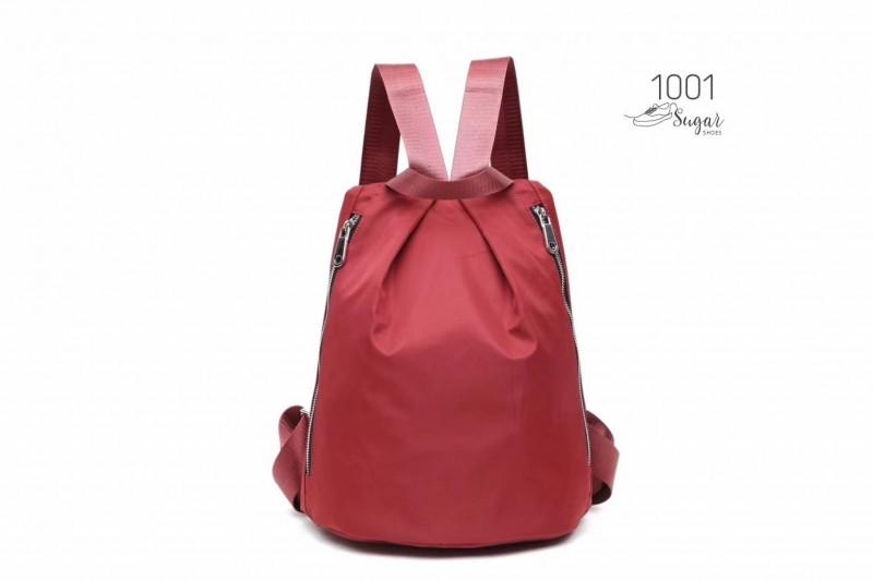 พร้อมส่ง กระเป๋าเป้ผ้าไนล่อนสไตล์ญี่ปุ่น - 1001 [สีแดง]