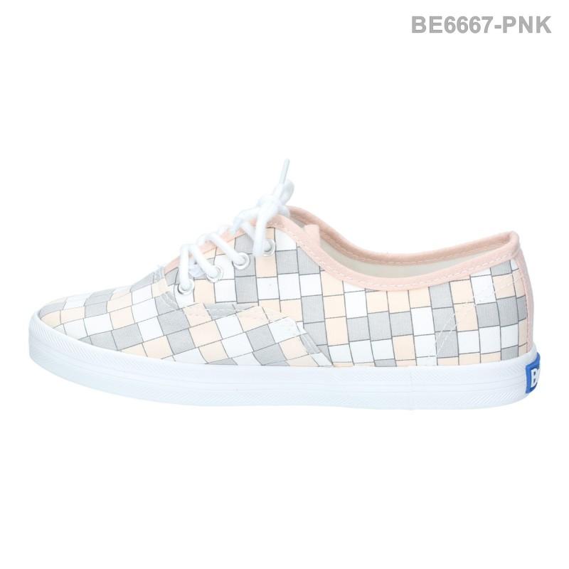 พร้อมส่ง รองเท้าผ้าใบแฟชั่น BE6667-PNK [สีชมพู]