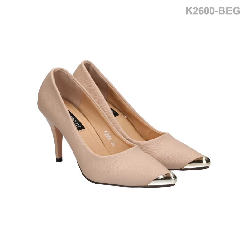 พร้อมส่ง รองเท้าส้นสูงแฟชั่น K2600-BEG [สีเบจ]