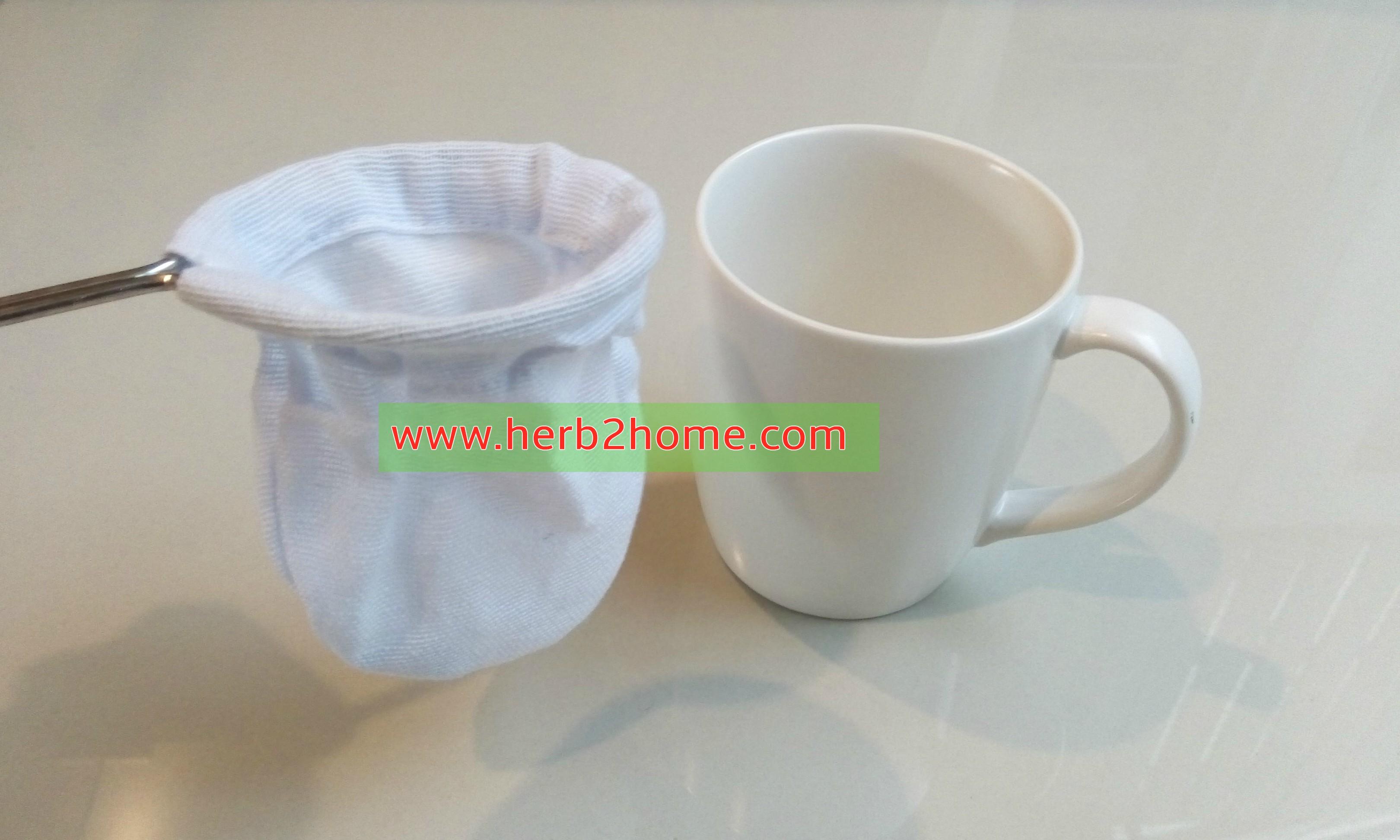 ถุงกรองชา ถุงกรองกากสมุนไพร 3 x 4 นิ้ว ผ้ากรองชงชา สำหรับเปิดร้านกาแฟ กาแฟโบราณ กาแฟสด