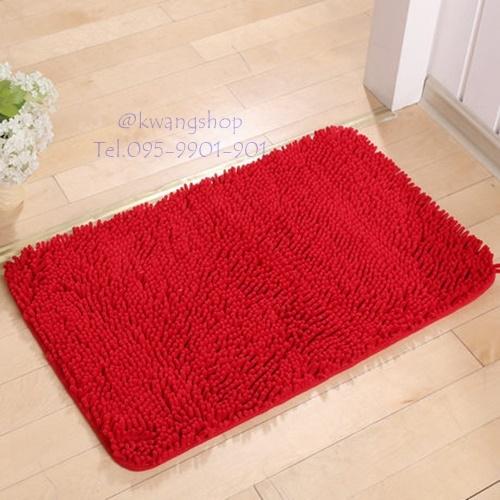 พรมเช็ดเท้าตัวหนอนนาโน(สีแดง)