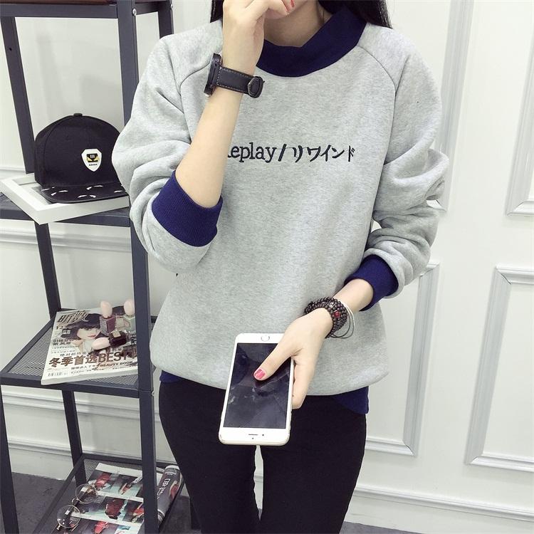 เสื้อกันหนาวสีเทาสไตล์เกาหลี