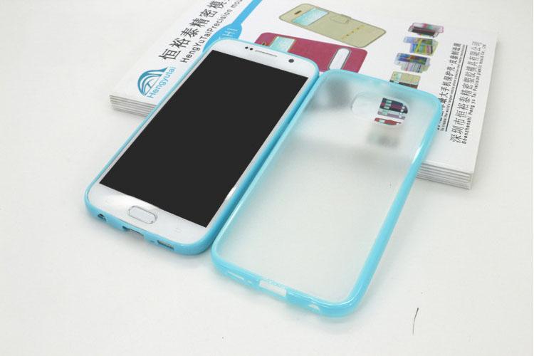เคส ขอบสี หลังขุ่น (ขอบยาง ฝาหลังพลาสติก) - Galaxy S6 Edge
