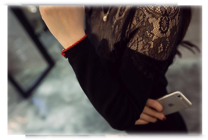 ชุดเดรสแฟชั่นเกาหลีสีดำรัดรูปแขนยาวเซ็กซี่สุดๆ