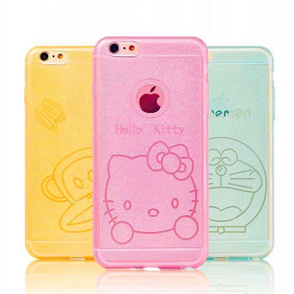 เคสกากเพชรการ์ตูน (เคสยาง) - iPhone6 Plus / 6S Plus