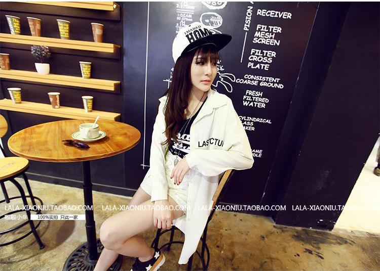 รับตัวแทนจำหน่ายเสื้อคลุมแฟชั่นเกาหลีแขนยาวสีขาวสวยๆ