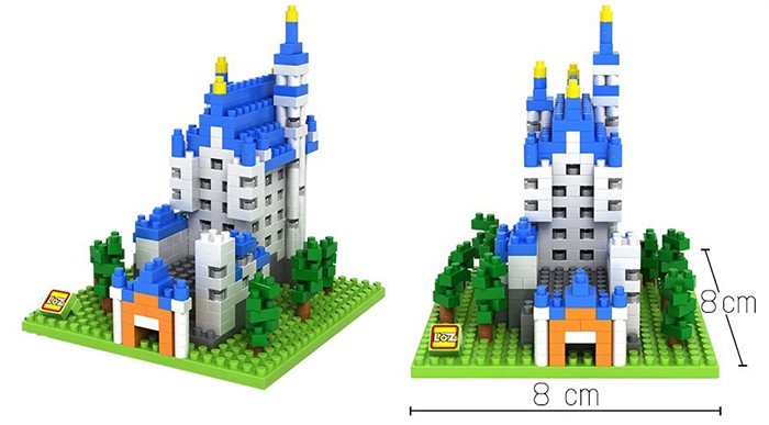 มินิบล็อก LOZ เลโก้จีน 9380 ราคาถูก New Swan Stone Castle ขนาด