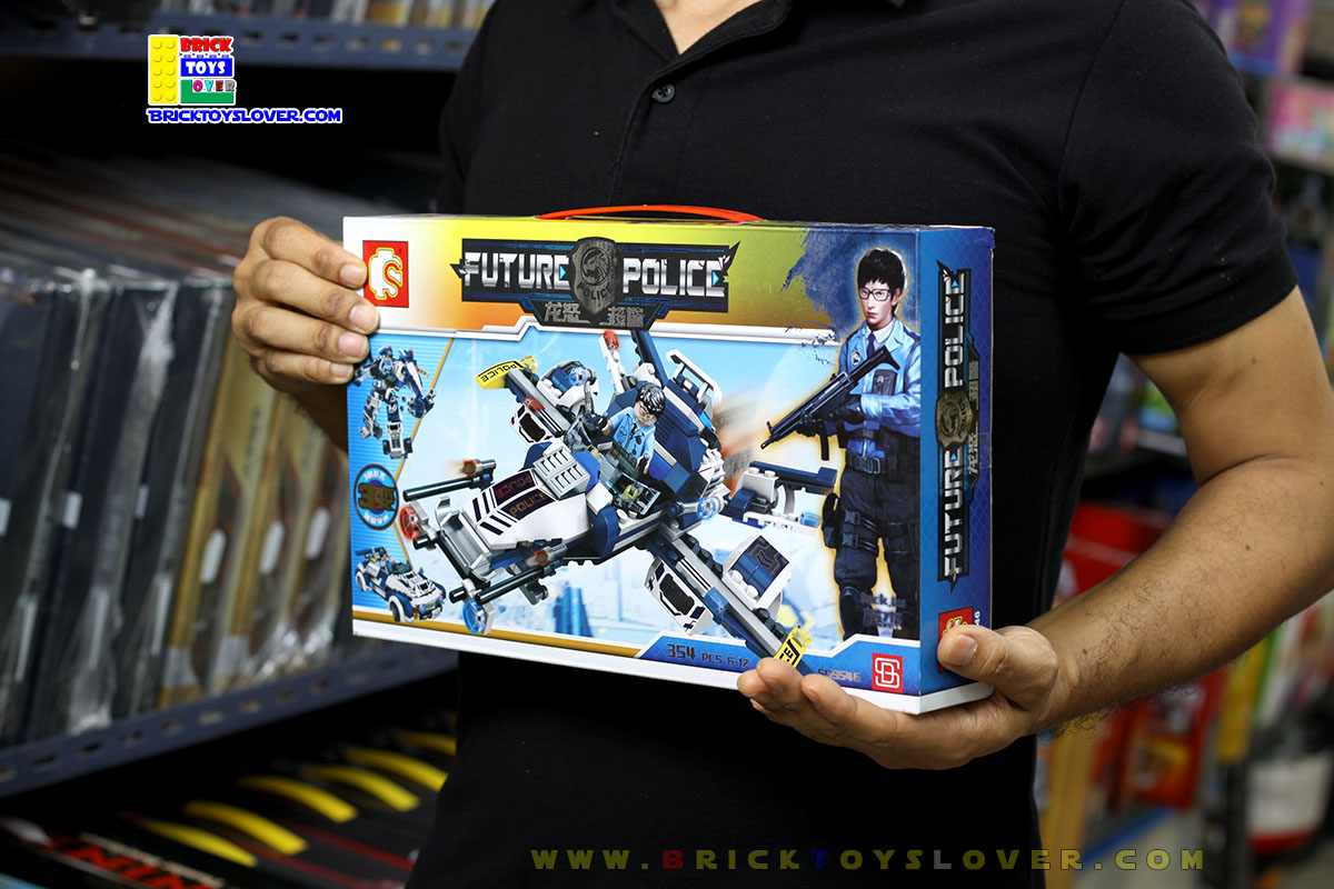 SD9546 ตัวต่อ Future Police รถตำรวจแปลงร่างได้ 3 แบบ เป็นหุ่นยนต์และยานบิน