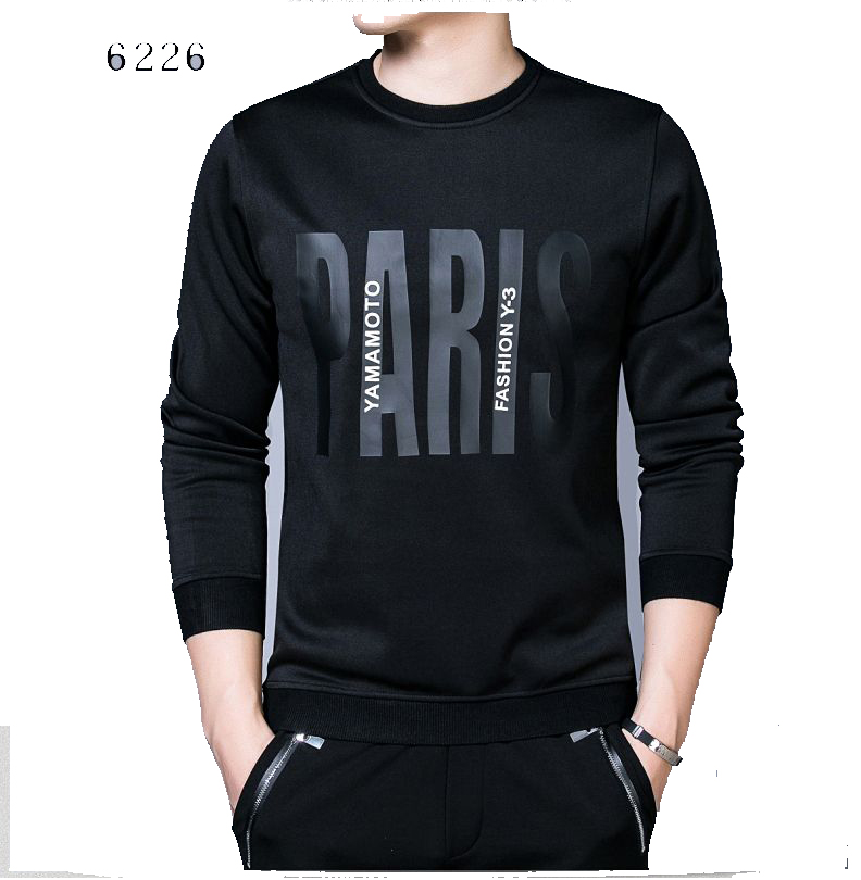 เสื้อยืดแขนยาว กำมะหยี่หนา พิมพ์ลาย แบรนด์ Elite Paul | สีดำมีหลายลายให้เลือก