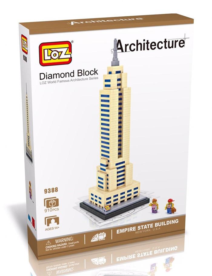 มินิบล็อก LOZ เลโก้จีน 9388 ราคาถูก Empire State Building