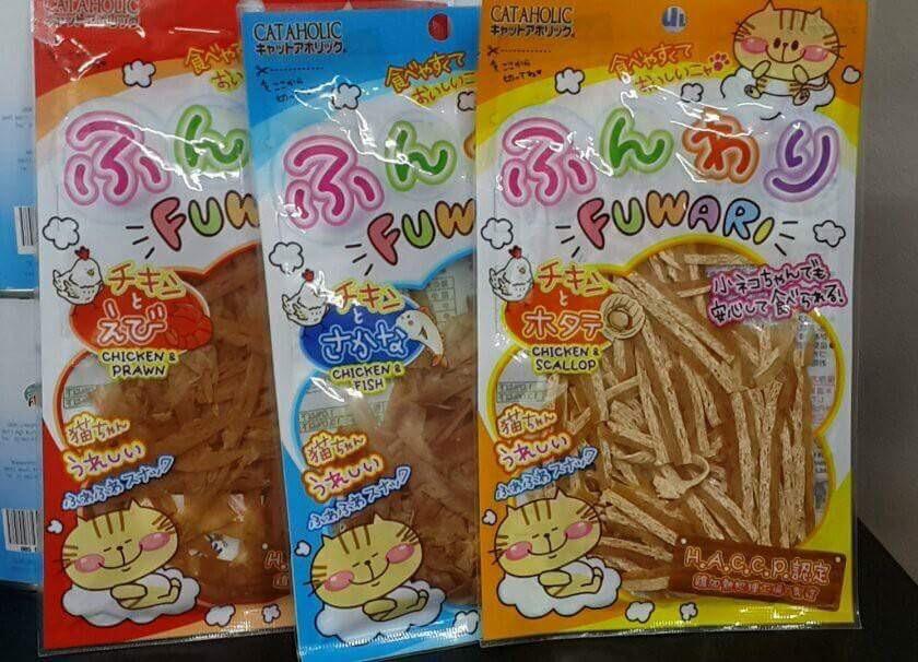 cataholic fuwari สองโหล850รวมส่ง คละได้สามรส ไก่กุ้ง ไก่ปลา ไก่หอยเชลล์