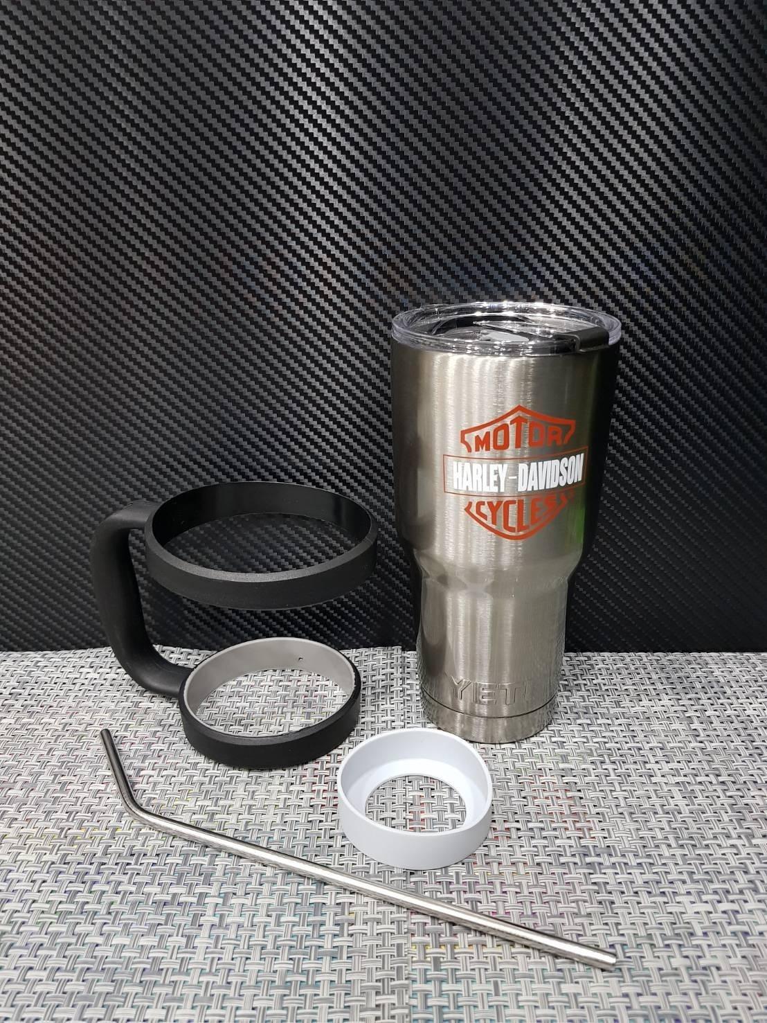 ชุดแก้วเยติ 30 ออนซ์ พื้นสีเงิน โลโก้ ฮาร์เล่ย์