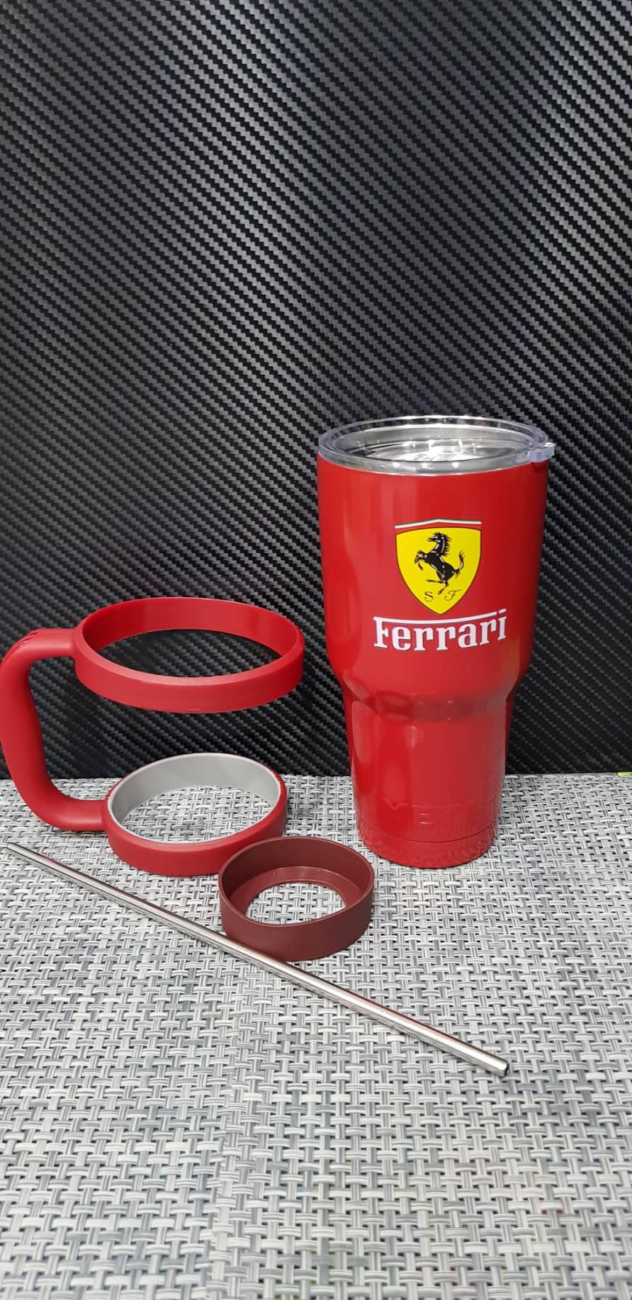 ชุดแก้วเยติ 30 ออนซ์ พื้นสีแดง โลโก้ Ferrari