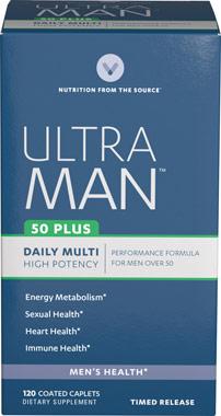 Vitamin World ULTRA MAN 50+ 120 เม็ด วิตามินรวมผู้ชายอายุ 50+ แบบ Timed release จากอเมริกาค่ะ