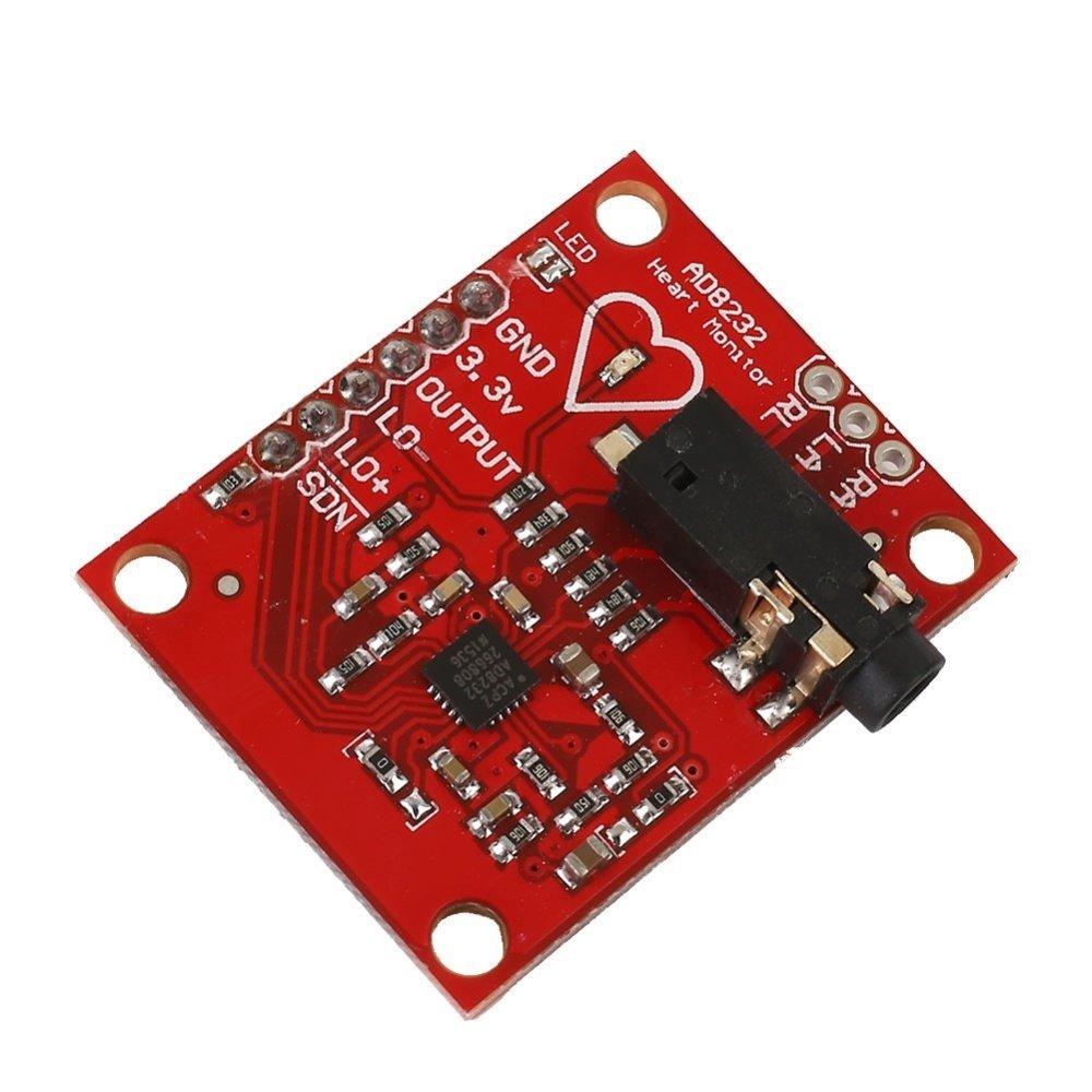 AD8232 ECG Measurement Pulse Heart Rate Monitoring Sensor Fitness Module